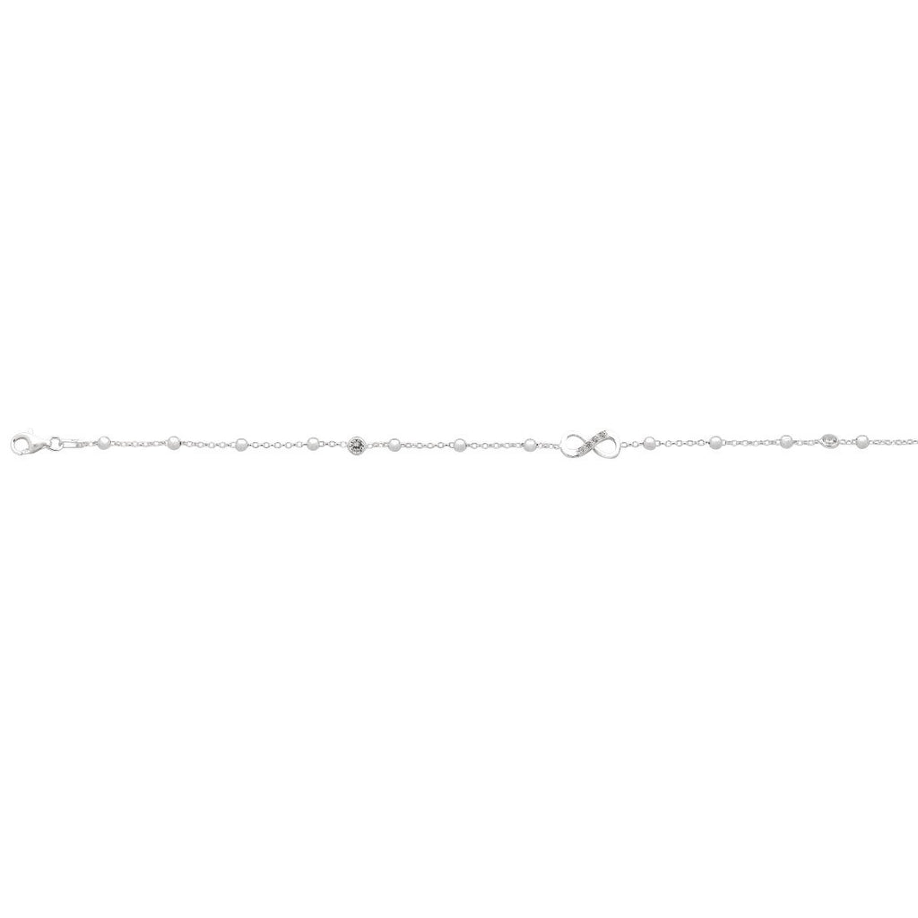 Infinity Choker Necklace in Sterling Silver Necklaces Bevilles