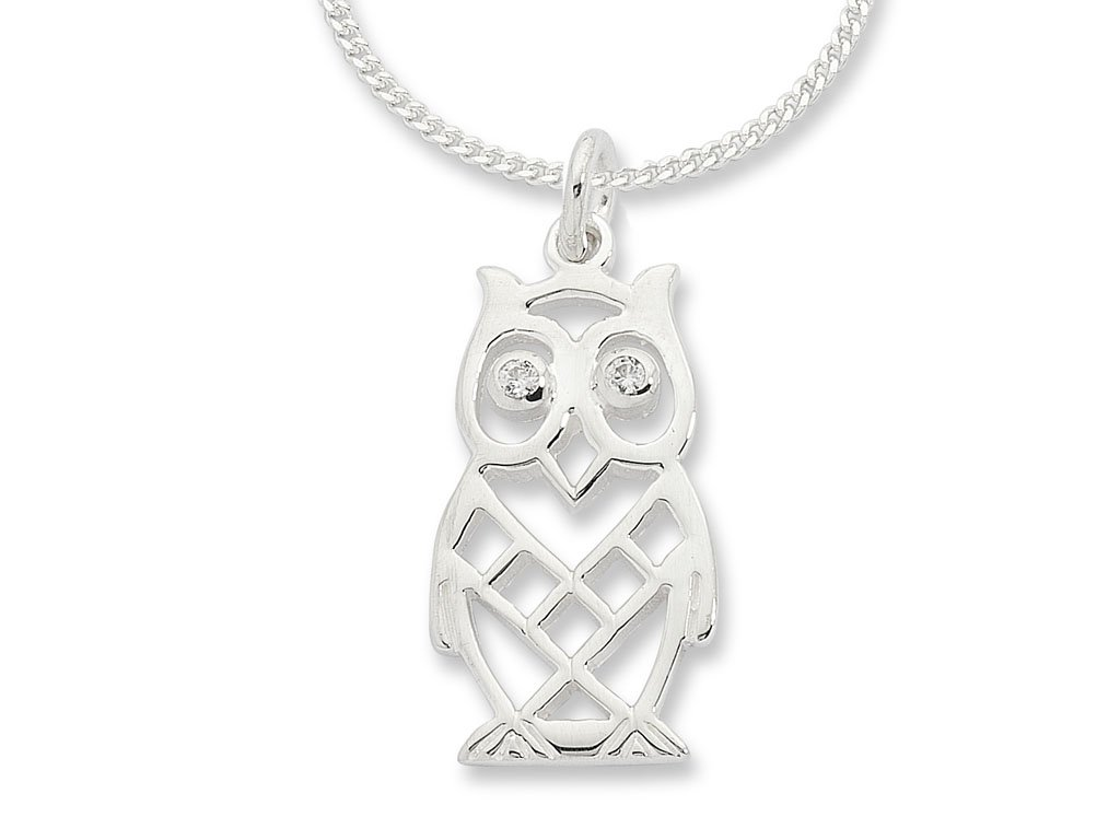 Sterling Silver Owl Necklace Necklaces Bevilles