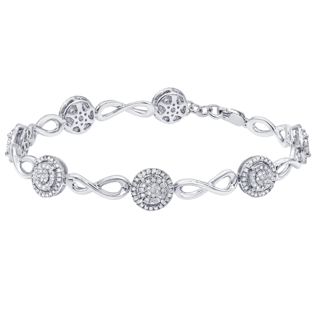 Martina Solitaire Look Link Bracelet with 1.00ct of Diamonds in Sterling Silver Bracelets Bevilles