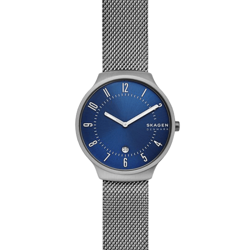 Skagen Grenen Steel-Mesh Blue Dial Watch SKW6517