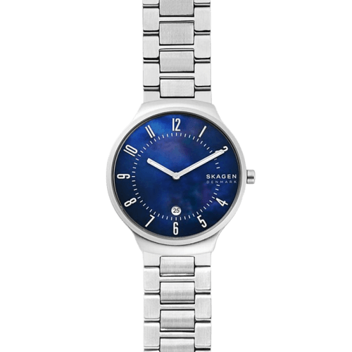 Skagen Grenen Steel-Link Mother of Pearl Mens Watch SKW6396