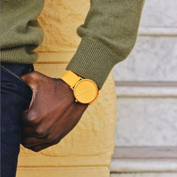 Skagen Aaron Kulor Yellow Silicone Watch SKW2820