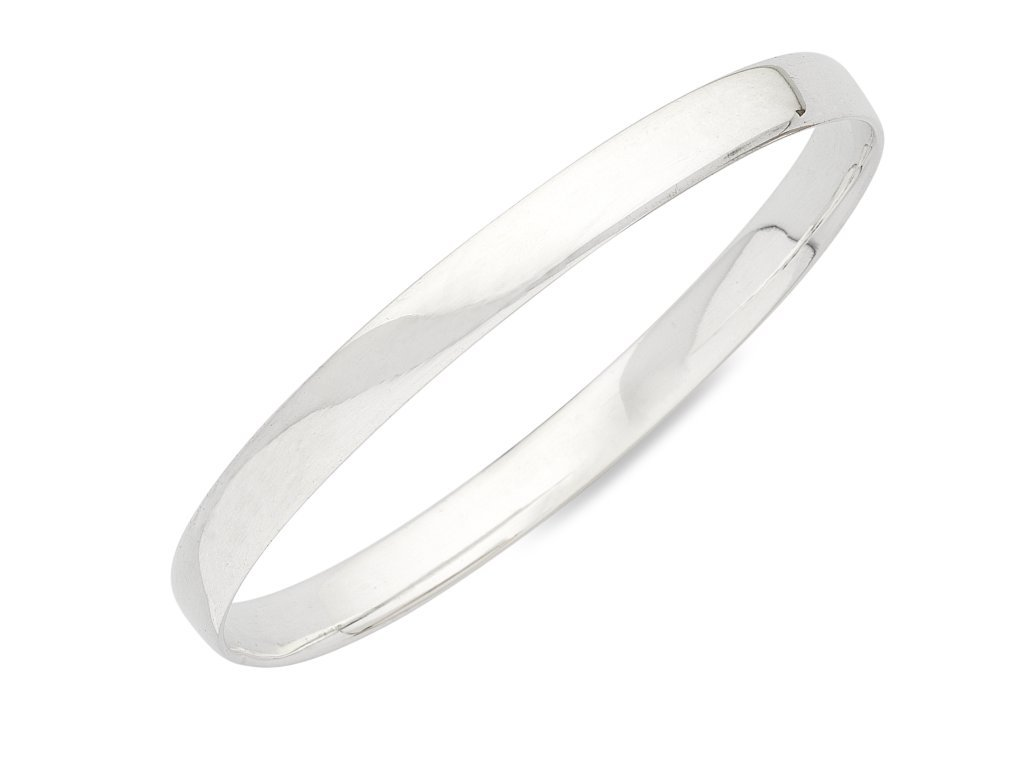Sterling Silver Plain Bangle Bracelets Bevilles