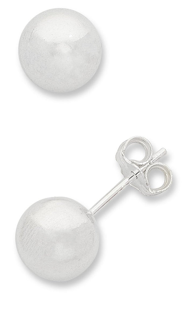 Sterling Silver Ball Stud Earrings 4mm Earrings Bevilles