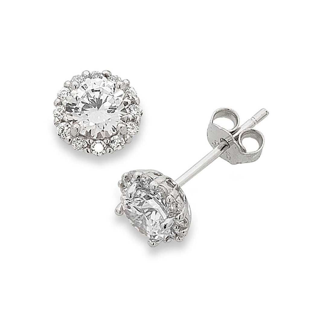 Sterling Silver Cubic Zirconia Earrings Earrings Bevilles