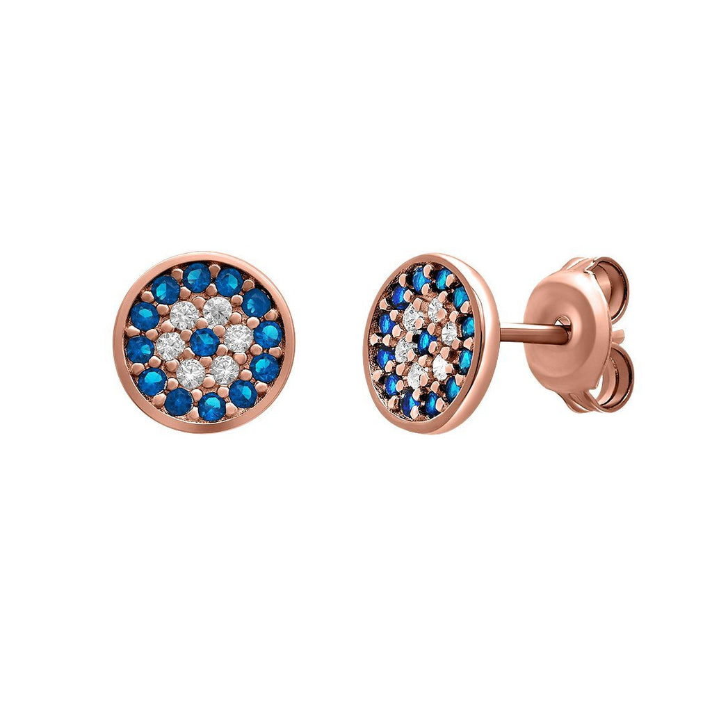 Evil Eye Sterling Silver Stud Earrings Earrings Bevilles