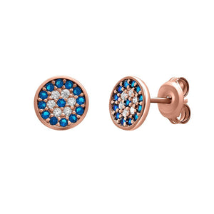 Evil Eye Sterling Silver Stud Earrings