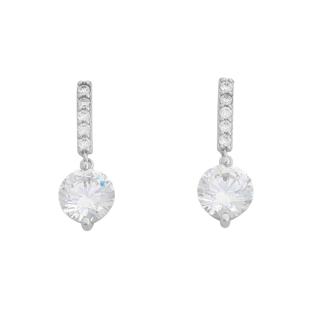 Sterling Silver Cubic Zirconia Drop Earrings Earrings Bevilles