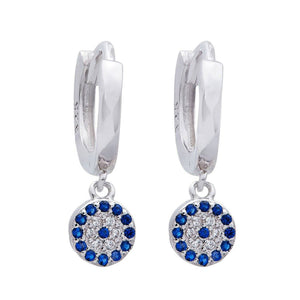 Evil Eye Sterling Silver Drop Earrings