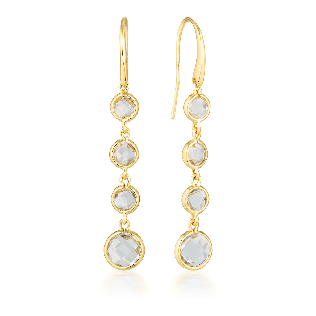 Georgini Helios Gold Drop Earrings Bevilles Jewellers