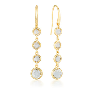 Georgini Helios Gold Drop Earrings