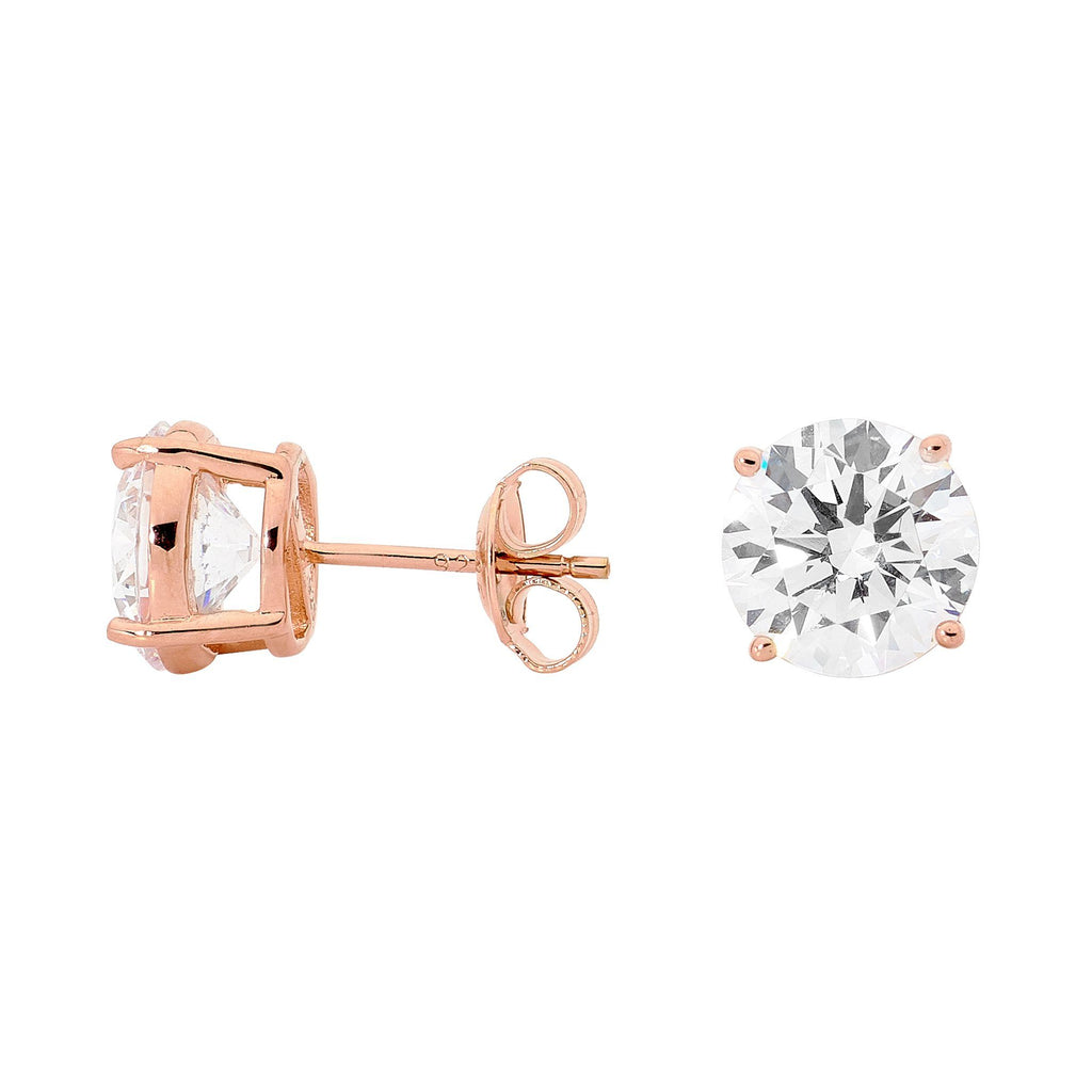 GEORGINI 9MM ROUND STUD ROSE GOLD Bevilles Jewellers
