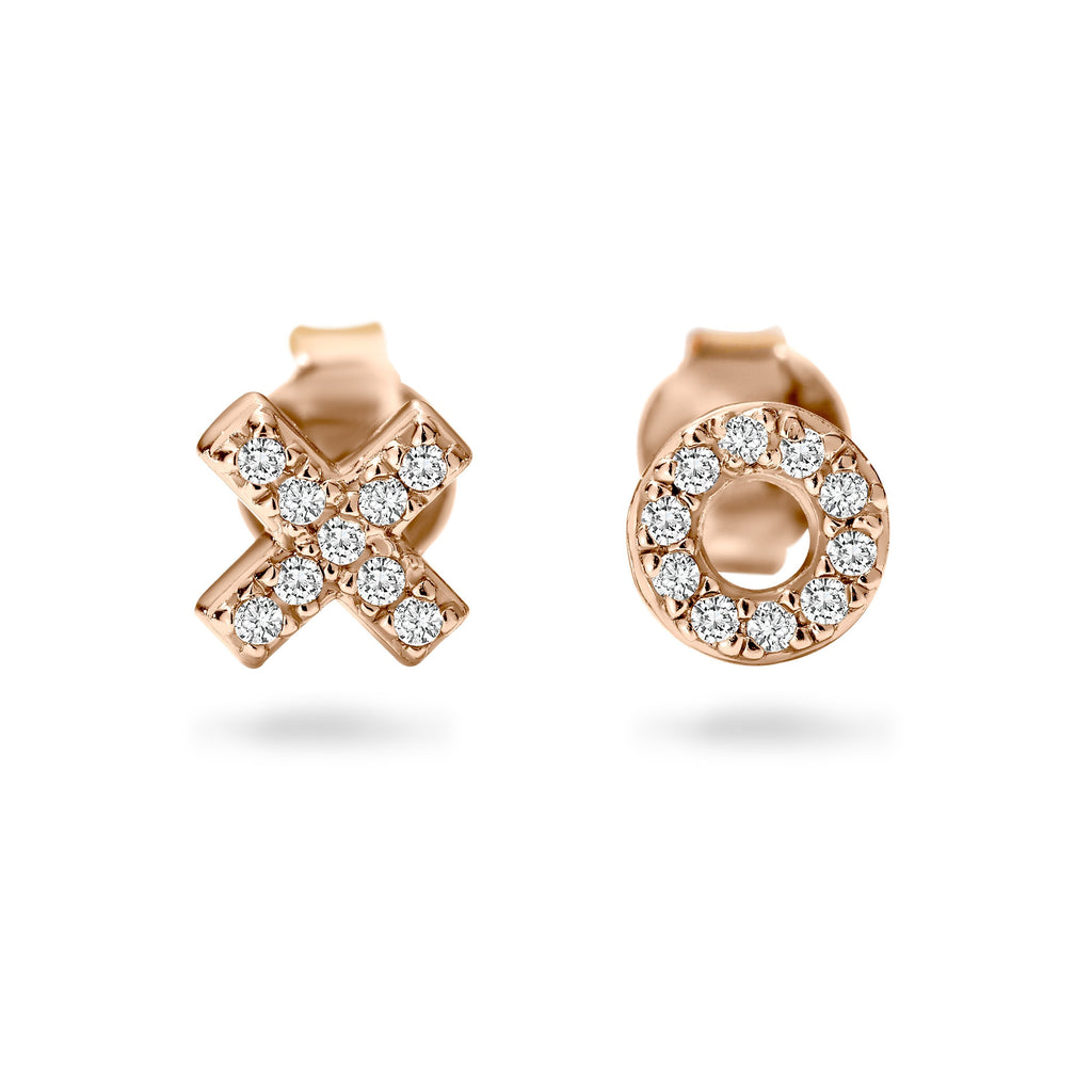 KISS HUG ROSE GOLD STUD Bevilles Jewellers