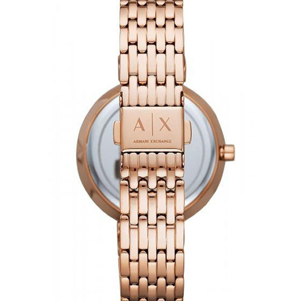 Armani Exchange Zoe Rose-Gold Tone Ladies Watch AX5901 Watches Armani Exchange