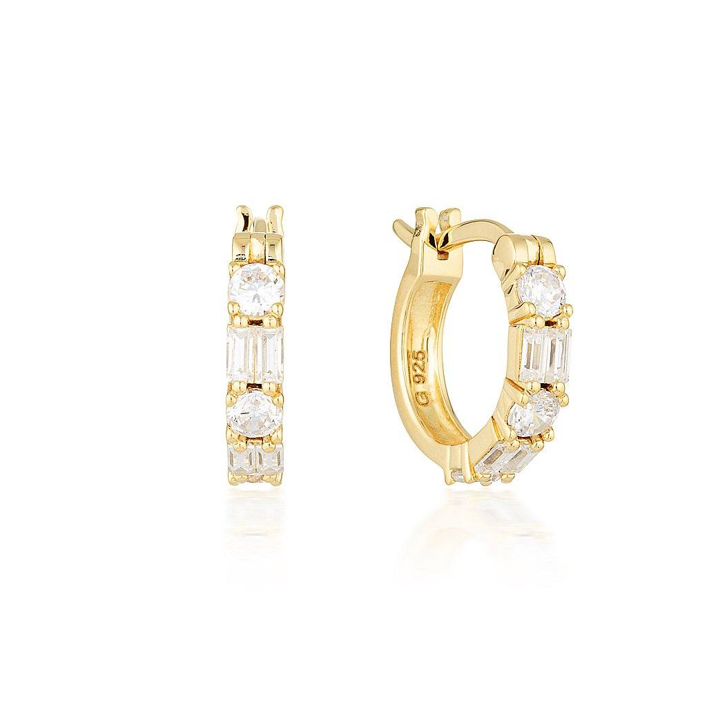 IRINA SMALL GOLD HOOP Bevilles Jewellers