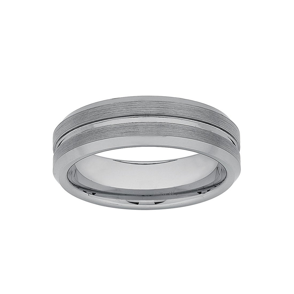 Stanton Made for Men Tungsten Groove Ring Rings Bevilles