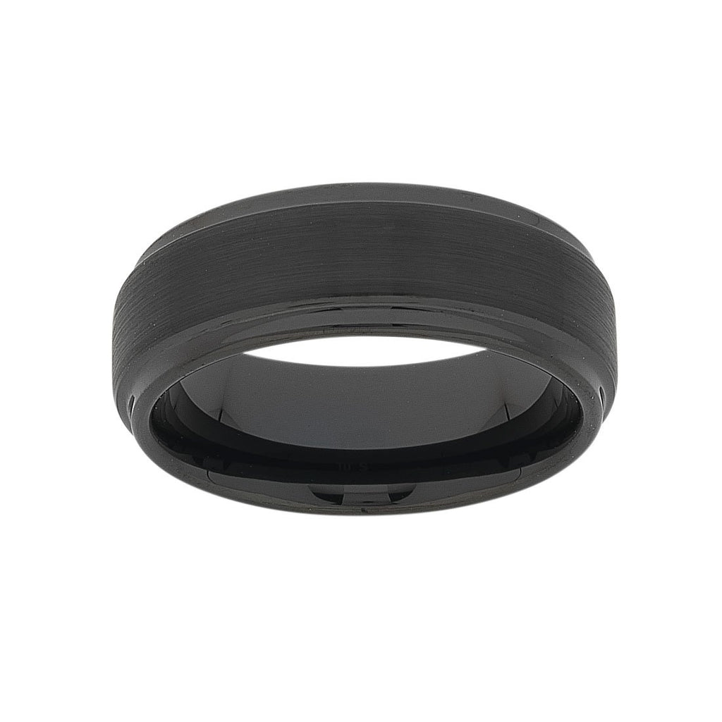 Stanton Made for Men Tungsten Black Ring Rings Bevilles