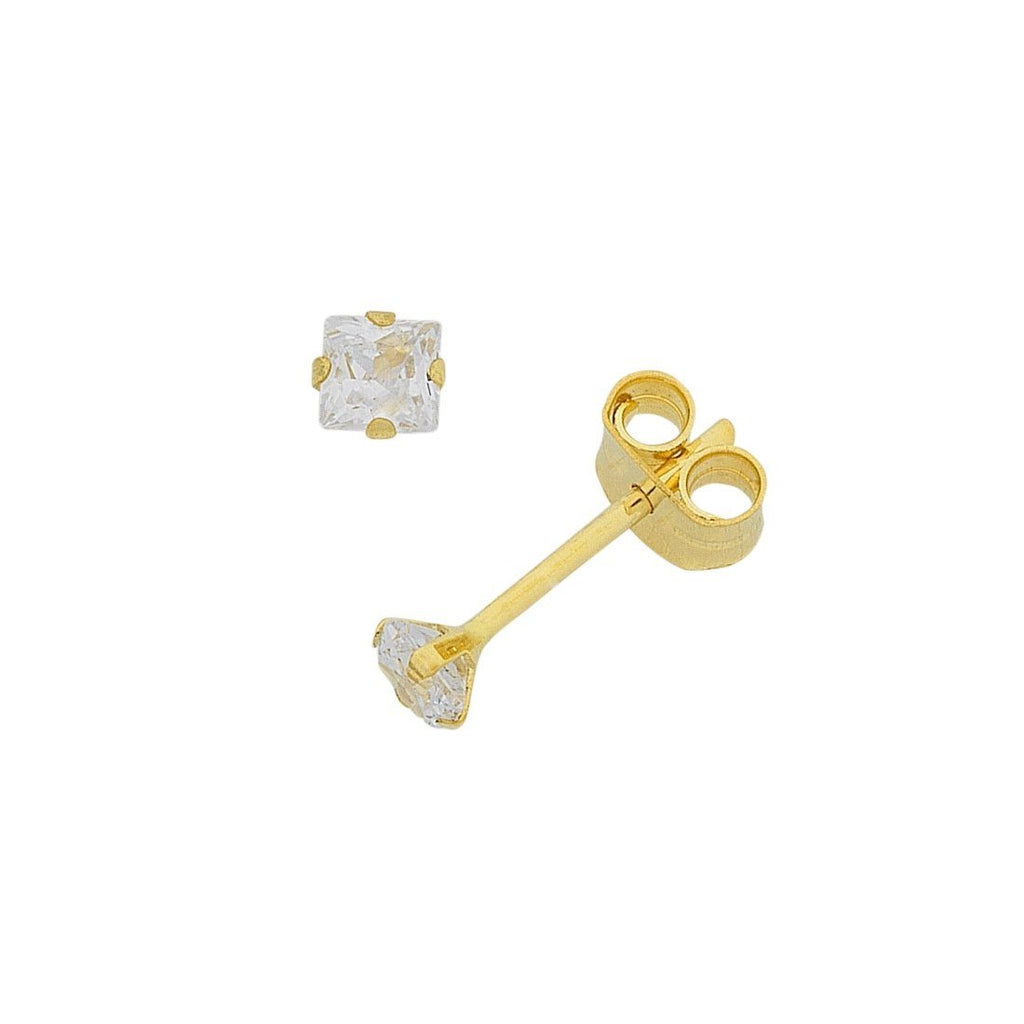 9ct Gold Cubic Zirconia 3mm Stud Earrings Earrings Bevilles