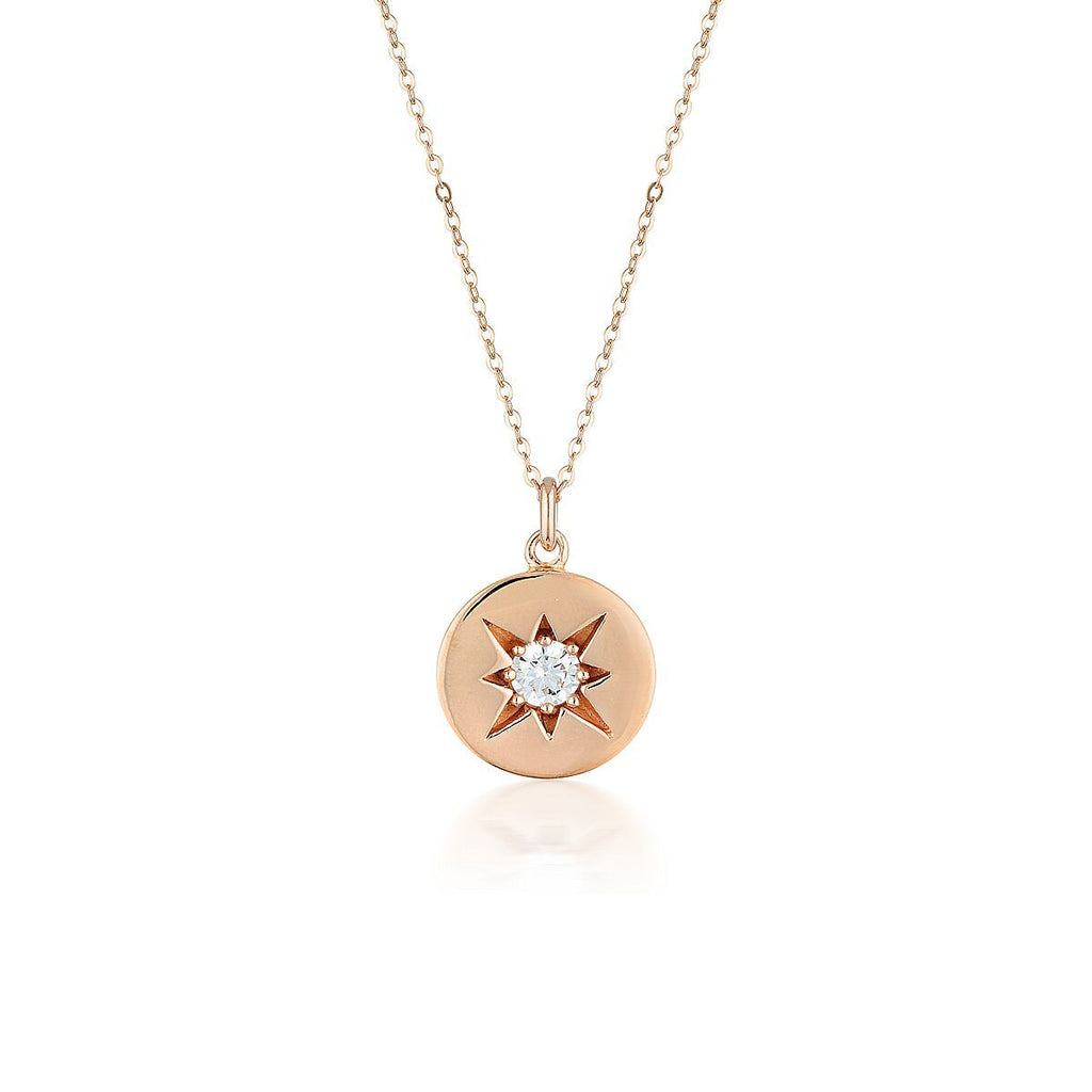 STELLAR LIGHTS ROSE GOLD PENDANT Bevilles Jewellers