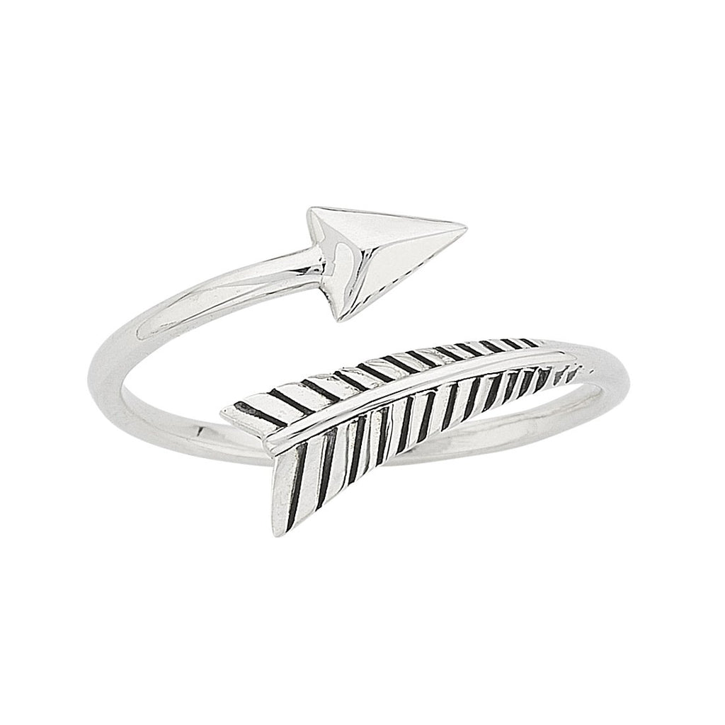Sterling Silver Arrow Stackable Ring Rings Bevilles