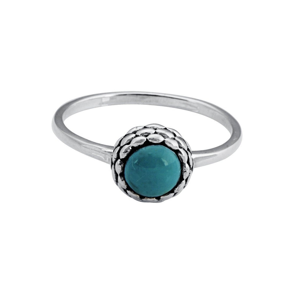 Sterling Silver Green Centre Stone Stackable Ring Rings Bevilles