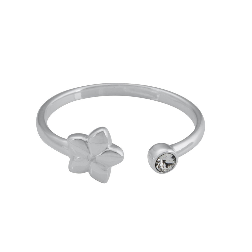 Sterling Silver Open Flower Stackable Ring
