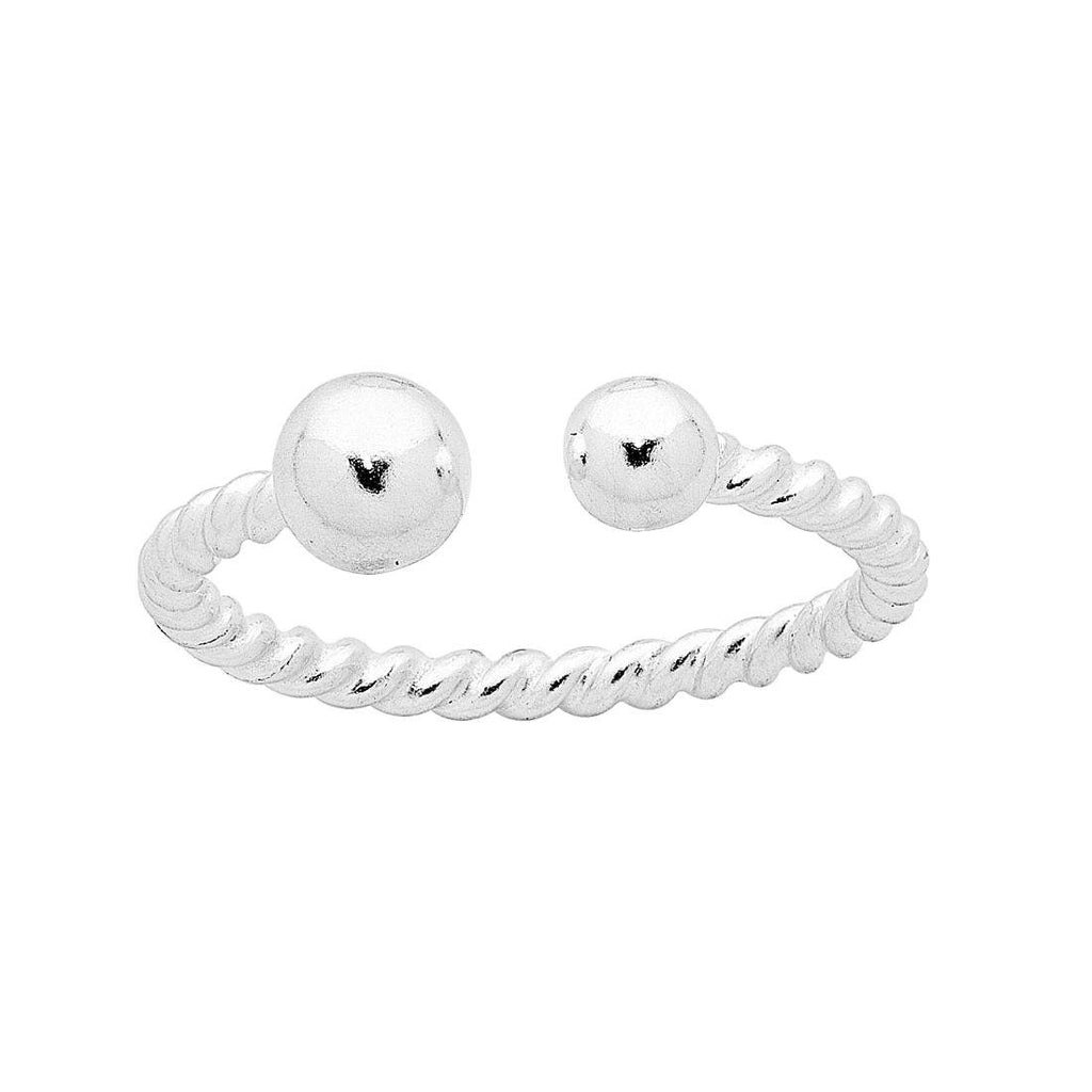 Sterling Silver Open Ball Stackable Ring Rings Bevilles
