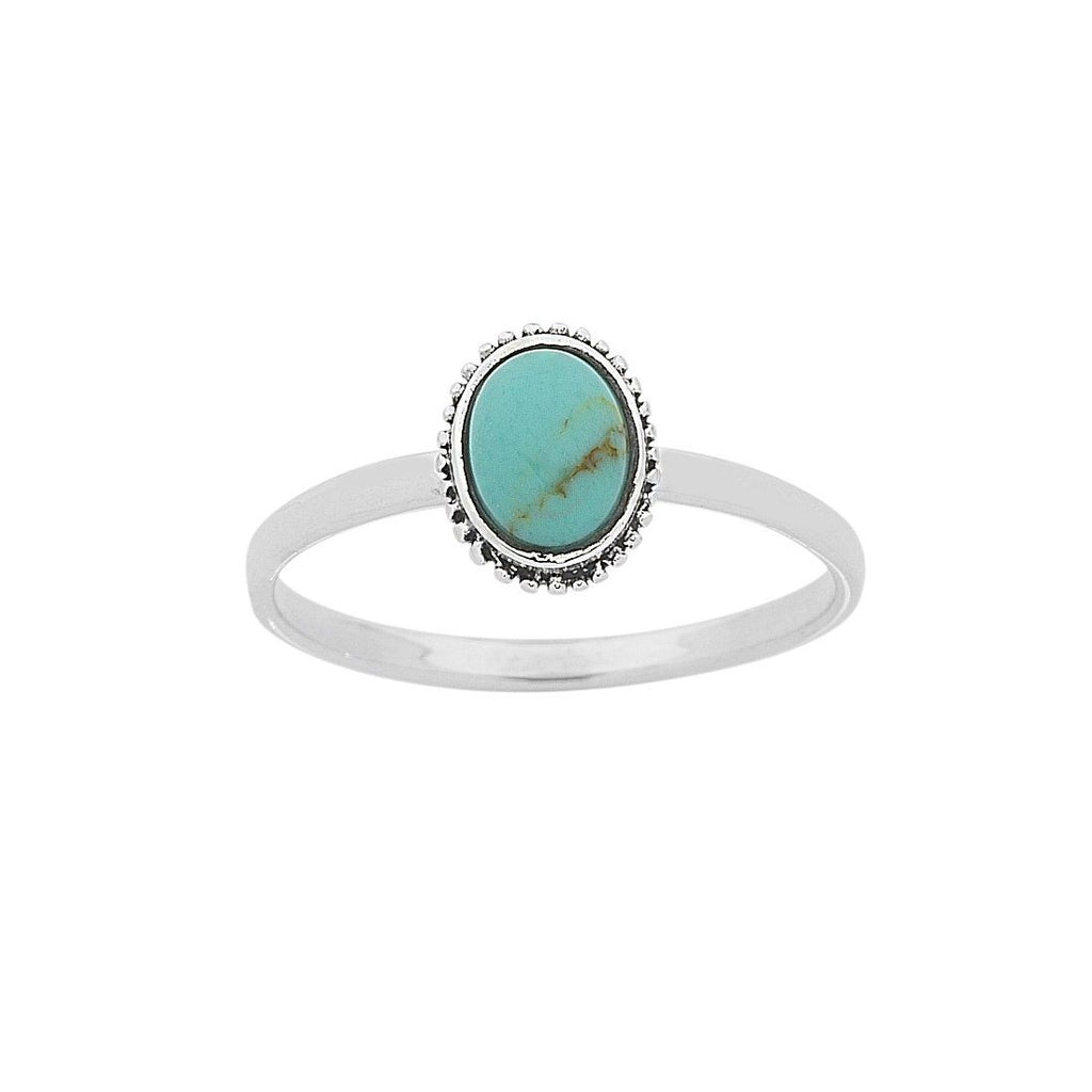Sterling Silver Turquoise Ring Rings Bevilles