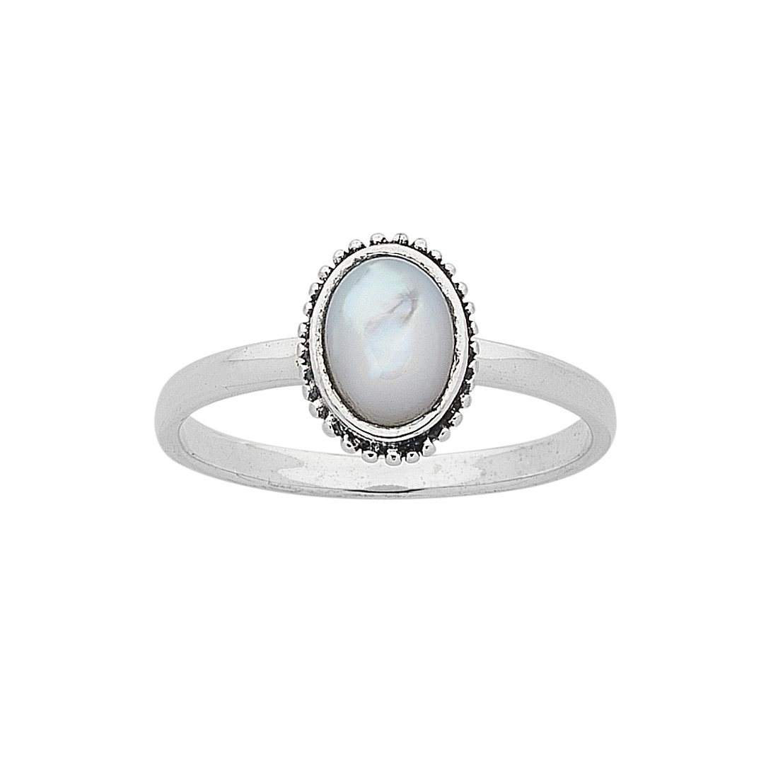 Sterling Silver White Mother Of Pearl Ring Bevilles
