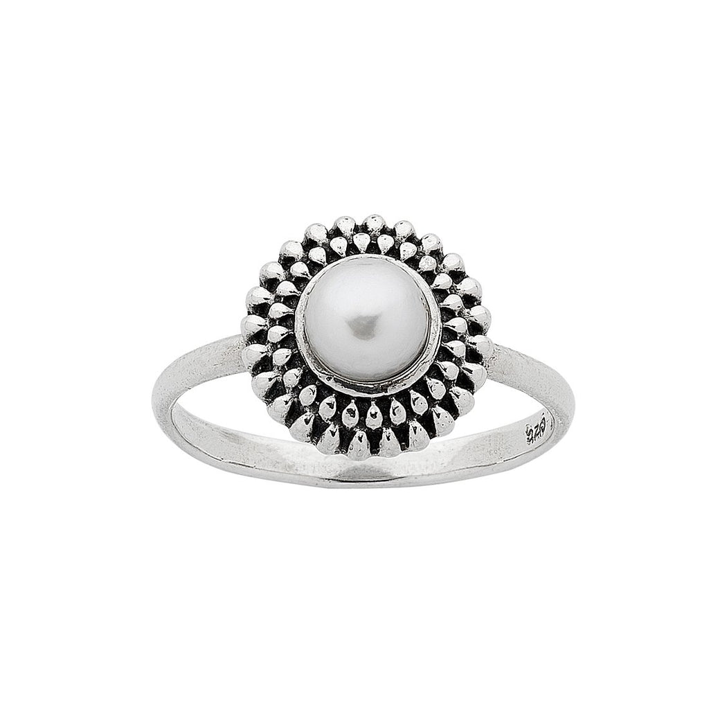 Sterling Silver & Freshwater Pearl Stackable Ring Rings Bevilles
