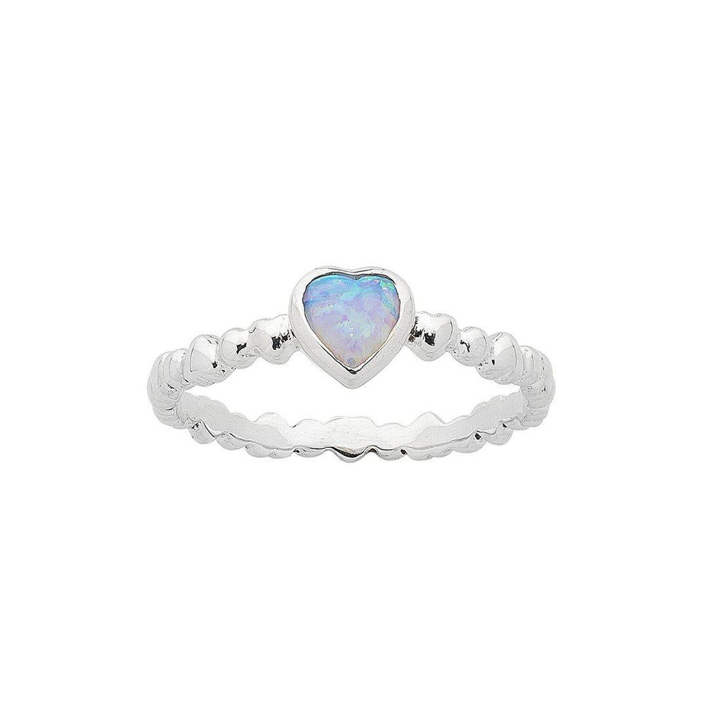 Sterling Silver Heart Stackable Ring Rings Bevilles