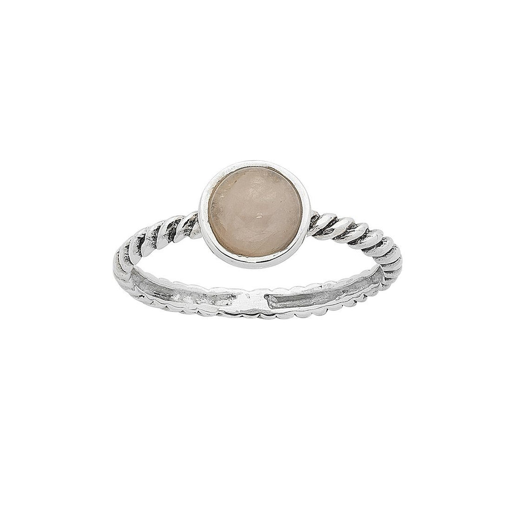 Sterling Silver Rose Quartz Stackable Ring