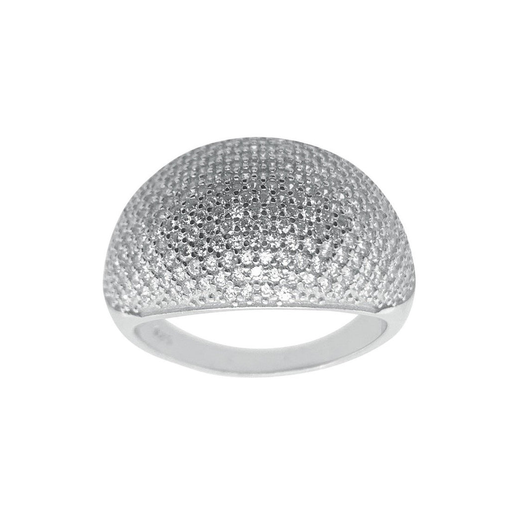 Sterling Silver Pave Cubic Zirconia Ring