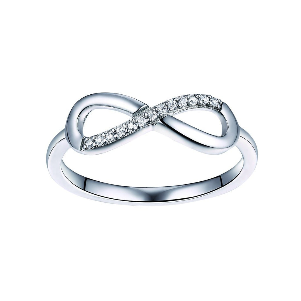 Sterling Silver Cubic Zirconia Infinity Ring Rings Bevilles