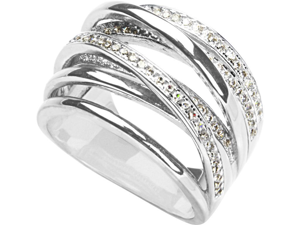 Sterling Silver Cubic Zirconia Stacked Ring Rings Bevilles