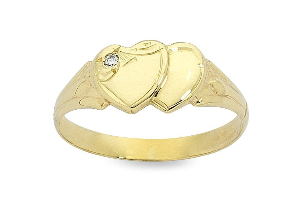 Personalised 9ct Yellow Gold Signet Ring