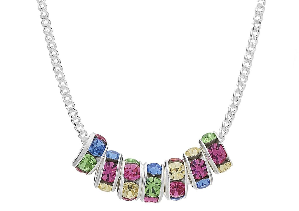 Children's Sterling Silver Swarovski Crystal Necklace Necklaces Bevilles