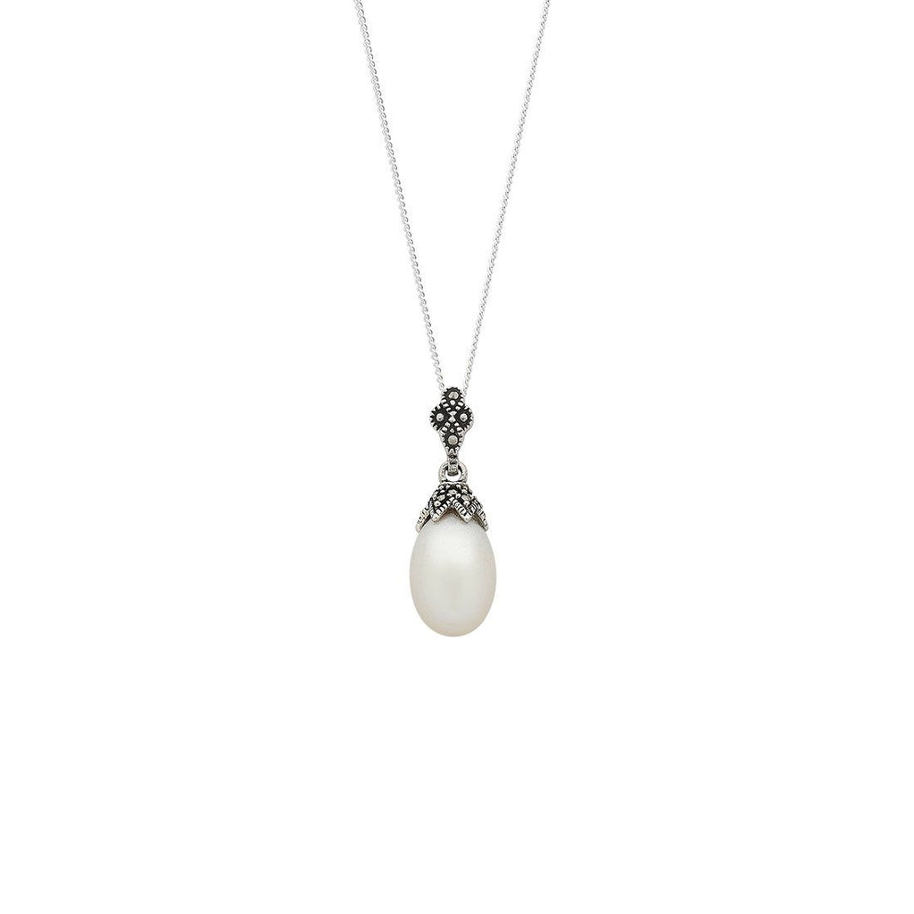Sterling Silver Freshwater Pearl Necklace Necklaces Bevilles