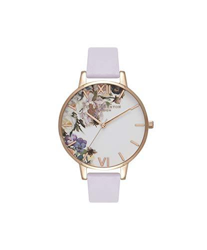 Olivia Burton Women's Watch Enchanted Garden Collection - Rose Gold Case - Violet Strap - Rose Gold Watches Olivia Burton