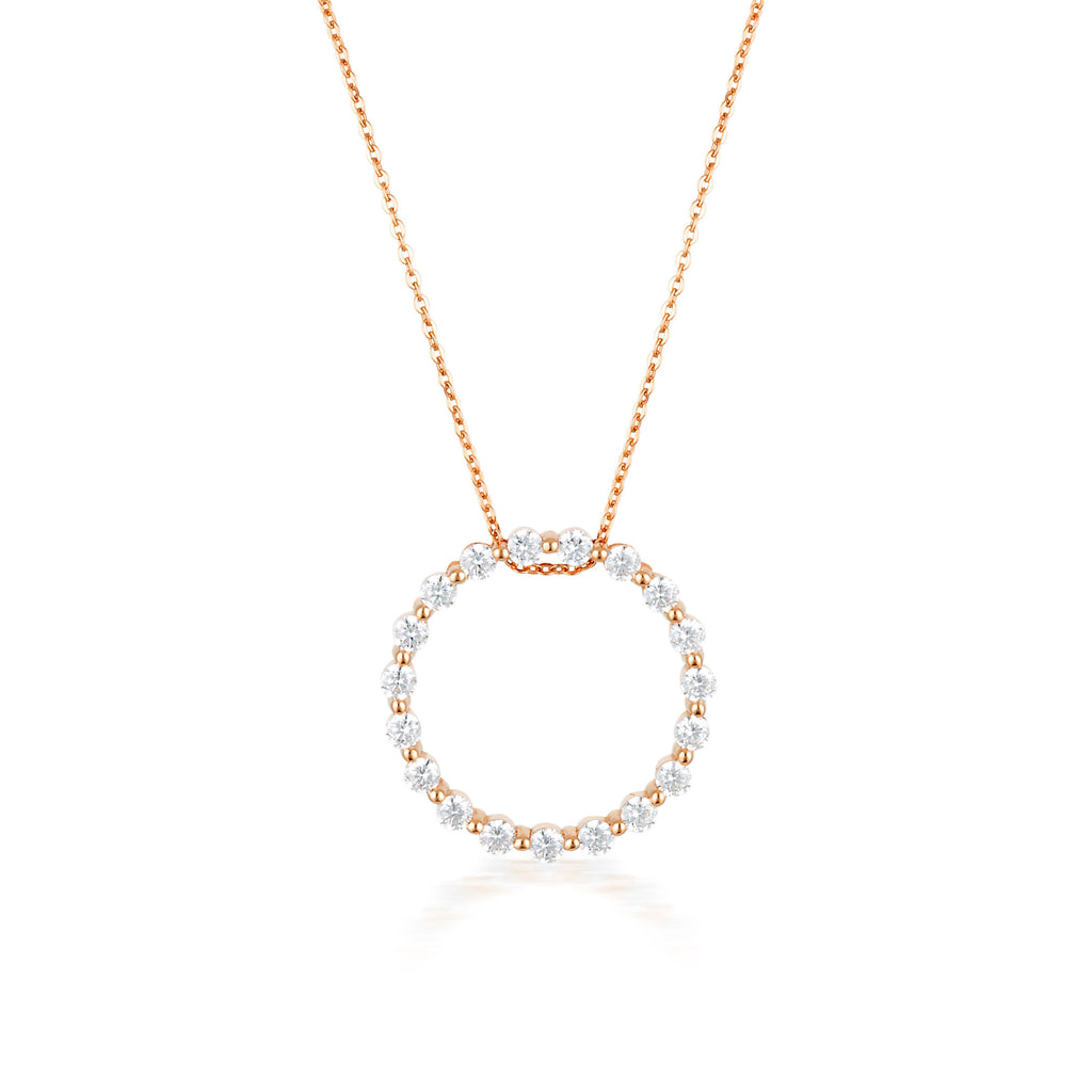 GEORGINI CIRCLE OF LIFE PENDANT - ROSE GOLD Bevilles Jewellers
