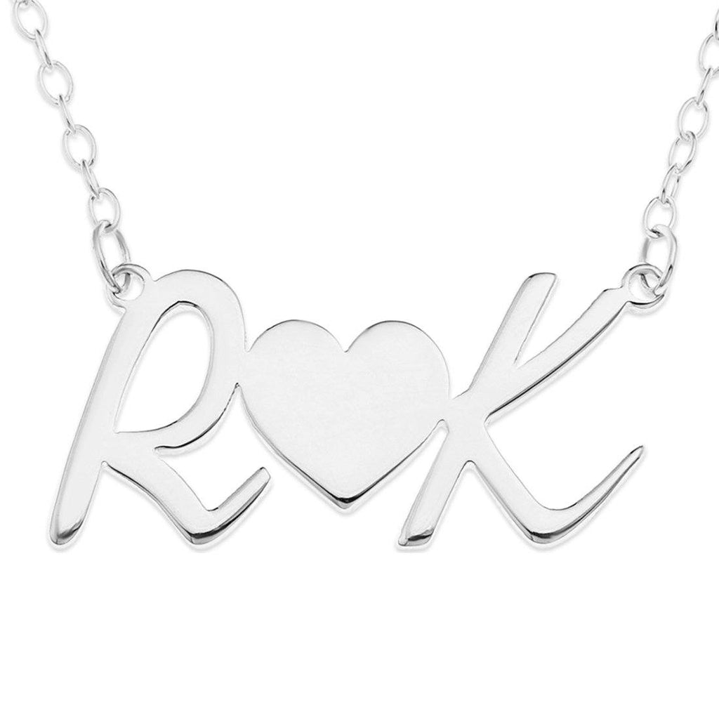 Personalised Sterling Silver Initials Necklace Necklaces Bevilles