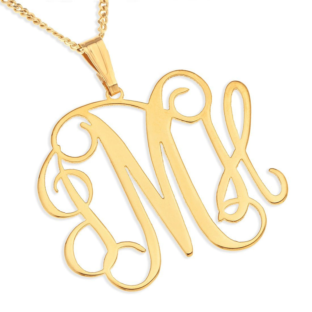 Personalised 9ct Yellow Gold Monogram Necklace