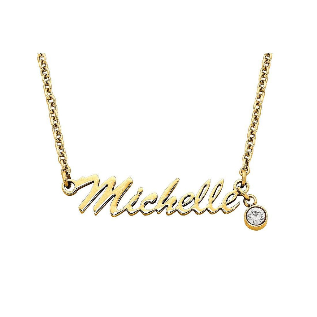 Stainless Steel Pre-made Name Necklace - 36 Names Available