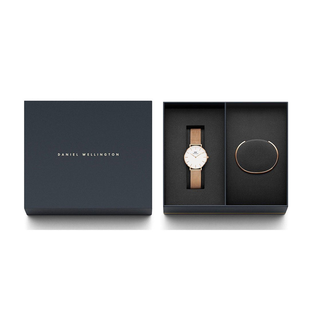 Daniel Wellington Melrose Gold Watch and Bracelet Ladies Gift Pack DW00500204