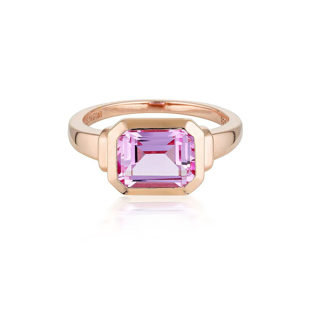 EMILIO PINK SAPPHIRE ROSE GOLD ZION RING Bevilles Jewellers