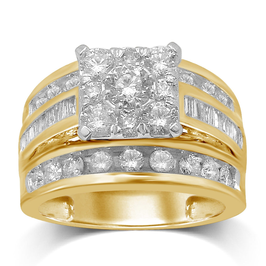 Brilliant Baguette Ring with 2.00ct of Diamonds in 9ct Yellow Gold Rings Bevilles