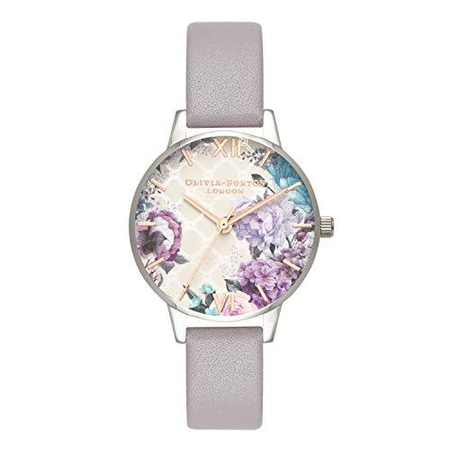 Olivia Burton Women's Watch Glasshouse Collection - Silver Case - Grey Lilac Strap - Grey Watches Olivia Burton