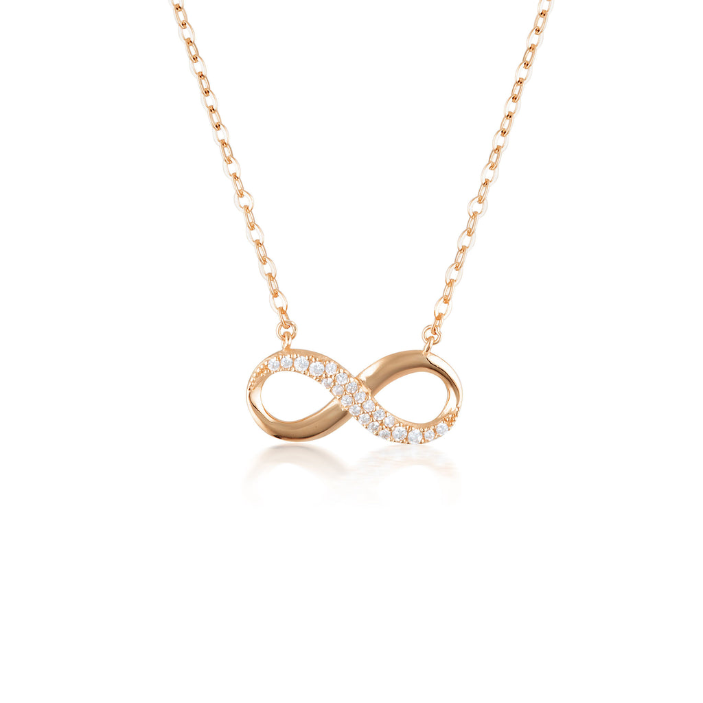 Forever Infinity Pendant - Rose Gold Bevilles Jewellers