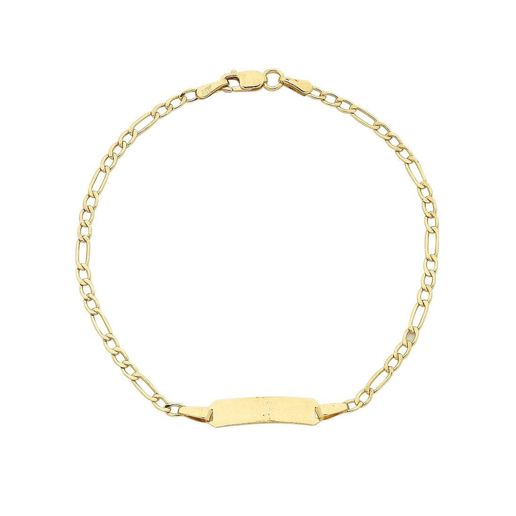9ct Yellow Gold Silver Infused ID Bracelet