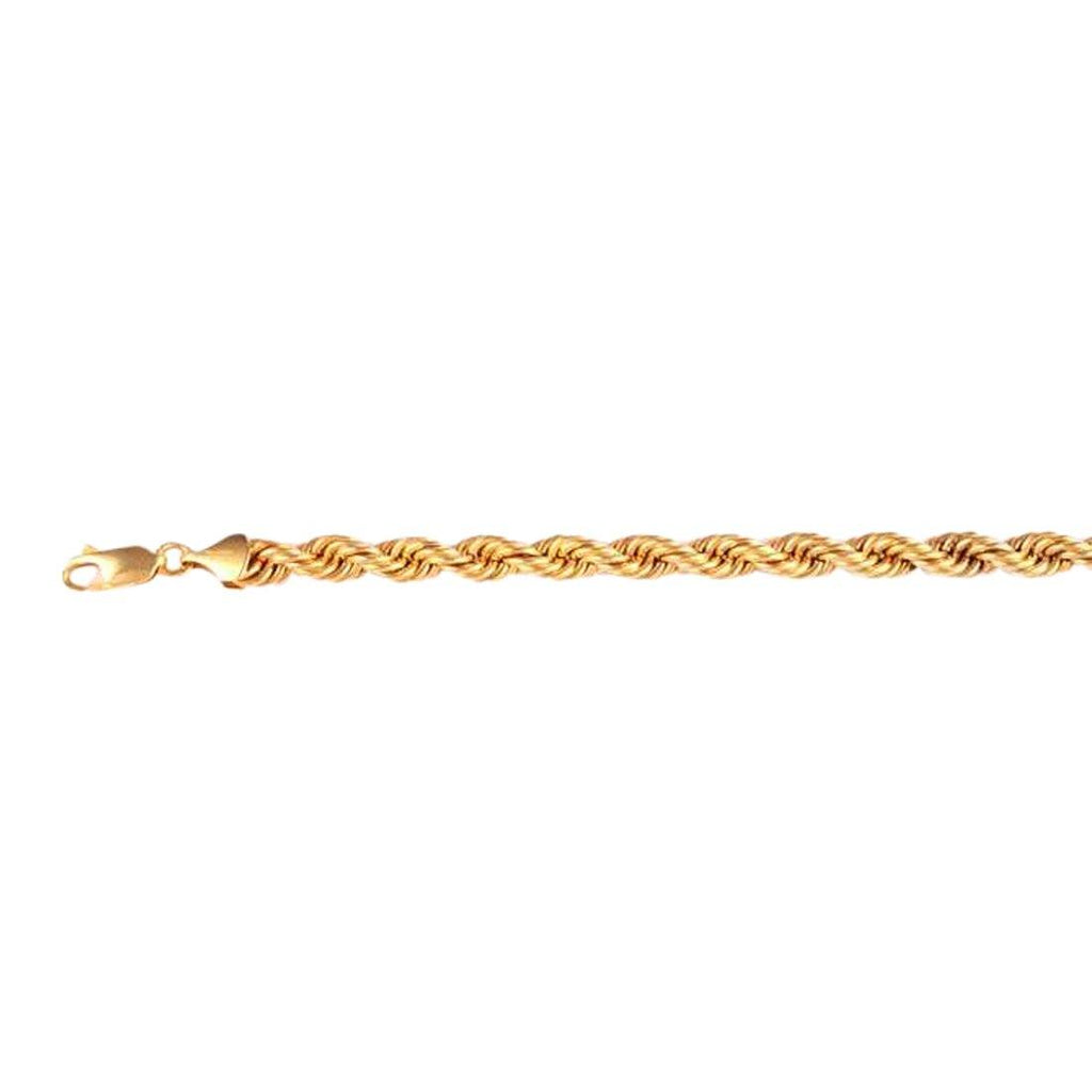 9ct Yellow Gold Silver Infused Triple Row Bracelet 19cm Bracelets Bevilles